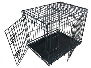 Ellie-Bo Large Dog Crate 36 inch black (excellent condition