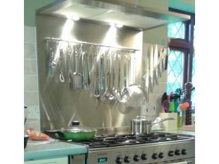 Stainless steel Kitchen Splash Back