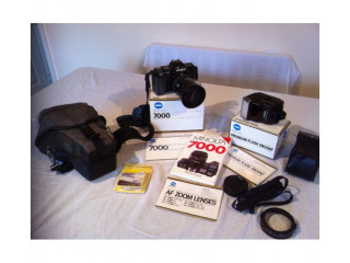 Minolta 7000 AF 35mm Camera (NON DIGITAL) with accessories