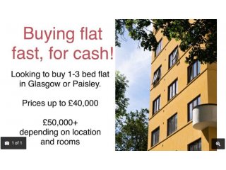 Buying flat in Glasgow or Paisley