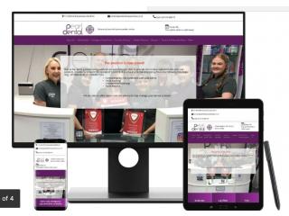 Website design and Development, Ecommerce Websites, SEO, Logos, hosting, technical support.