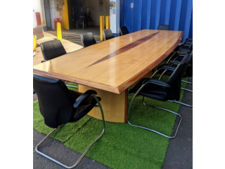 FREE SAME DAY DELIVERY - Boardroom/ Conference Table With 10 Giroflex G64 Leather Meeting Chairs