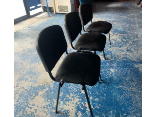 3 x Black Conference Chairs