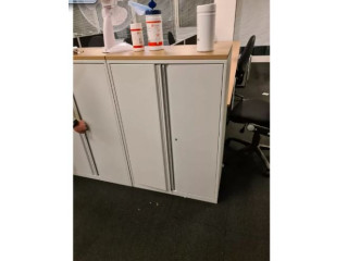 4 drawer metal filing cabinet complete with key