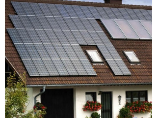 Solar panels with battery
