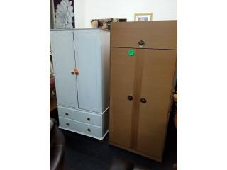Vintage teak double wardrobe Copley Mill LOW COST MOVES 2nd Hand Furniture STALYBRIDGE SK15 3DN
