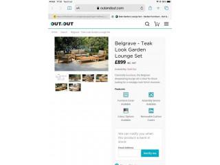 Garden furniture designer lounge set