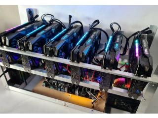 NEW Custom Cryptocurrency Mining Rig 6 x RTX 3070 Ethereum, ERGO 360mh/s