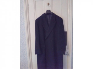 Man's navy wool coat in Cardiff